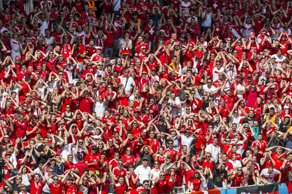BILD: RETO OESCHGER, SAINT-ETIENNE, 25.06.2016 RESSORT: SPORT EURO 2016 FRANCE SCHWEIZ-POLEN Stadion Geoffroy-Guichard 2.Halbzeit