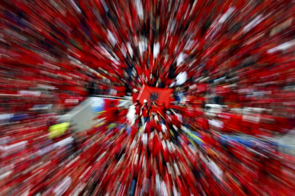 Football Soccer - Romania v Albania - EURO 2016 - Group A - Stade de Lyon, Lyon, France - 19/6/16 - Albania's supporters before the match. REUTERS/Max Rossi TPX IMAGES OF THE DAY
