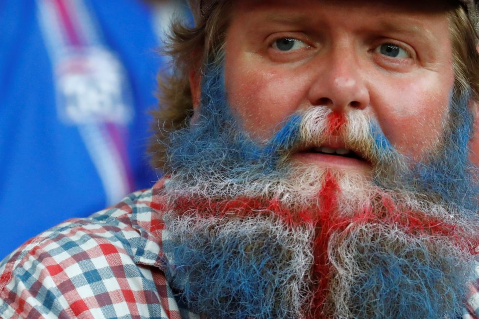 Football Soccer - England v Iceland - EURO 2016 - Round of 16 - Stade de Nice, Nice, France - 27/6/16Iceland fan before the gameREUTERS/Kai PfaffenbachLivepic TPX IMAGES OF THE DAY /gs