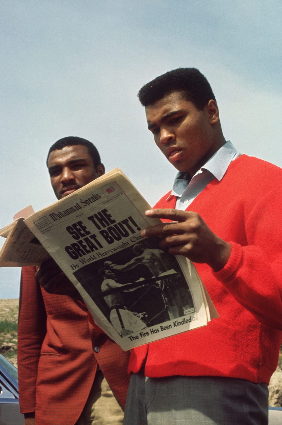 UNDATED: Muhammad Ali reads about his boxing match in the paper circa 1960's. (Photo by Focus on Sport/Getty Images)