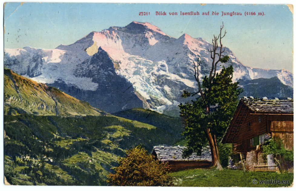old postcard Isenfluh Switzerland