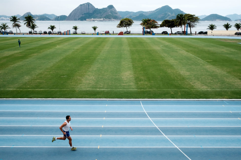 View of the training center of the Team Brazil at the Brazilian Army Physical Education School (EsEFEx) in Rio de Janeiro, Brazil, on July 19, 2016. / AFP PHOTO / YASUYOSHI CHIBA