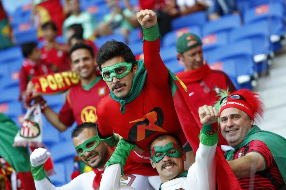 Football Soccer - Portugal v Wales - EURO 2016 - Semi Final - Stade de Lyon, Lyon, France - 6/7/16 Portugal fans before the game REUTERS/Kai Pfaffenbach Livepic