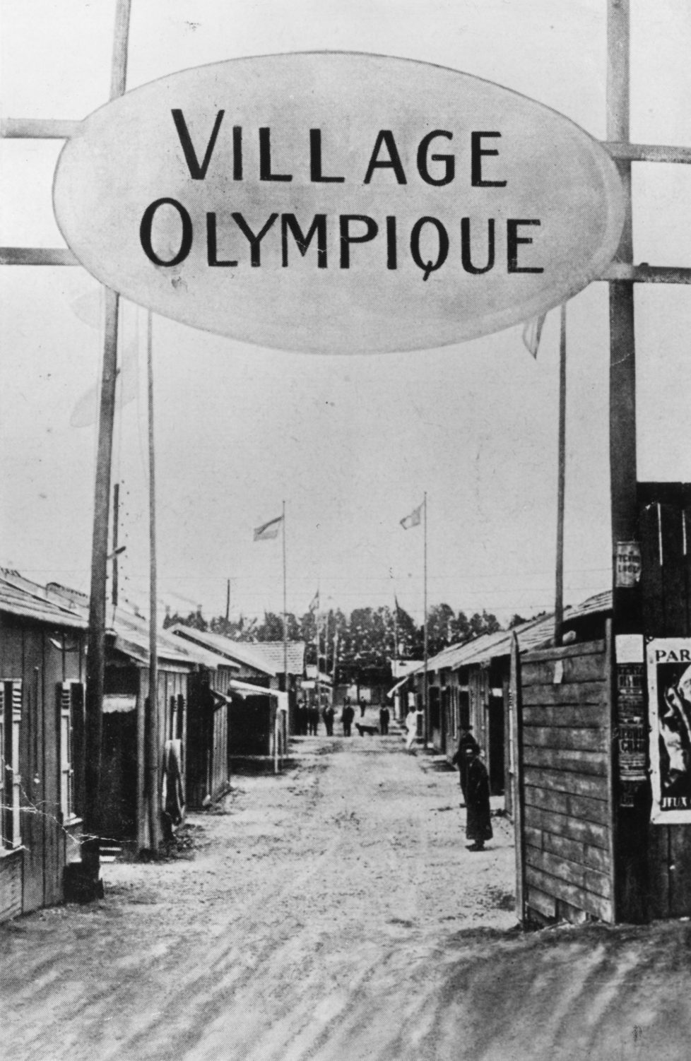 1924: The first ever Olympic Village, built for the 1924 games in Paris. (Photo by Hulton Archive/Getty Images)