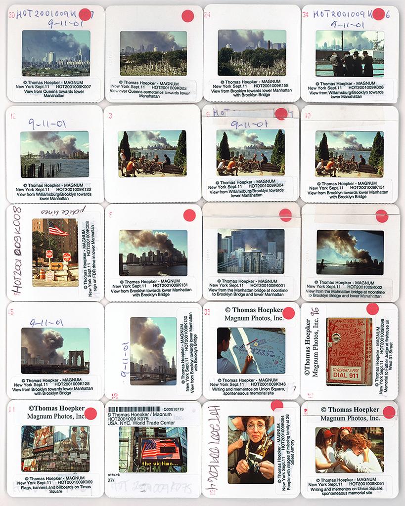CONTACT SHEET. USA. New York. September 11, 2001. (KEYSTONE/MAGNUM PHOTOS/Thomas Hoepker)