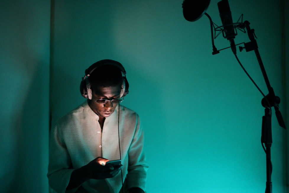 """Rapper Ichon records a song at a studio in Montreuil, France, August 28, 2016. REUTERS/Joe Penney SEARCH """"CREATIVE BANLIEUE"""" FOR THIS STORY. SEARCH """"WIDER IMAGE"""" FOR ALL STORIES.?THE IMAGES SHOULD ONLY BE USED TOGETHER WITH THE STORY - NO STAND-ALONE USES."""