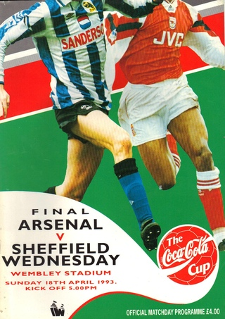 Football League Cup Final 18. April 1993: Arsenal v Sheffield Wednesday 2:1