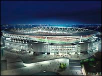 The Emirates Stadium im Modell