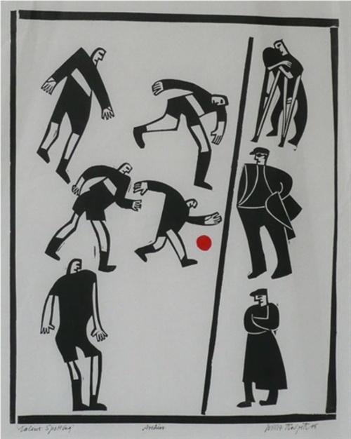 Willie Rodger; Talent Spotting; Druck mit roter und schwarzer Tinte;1995