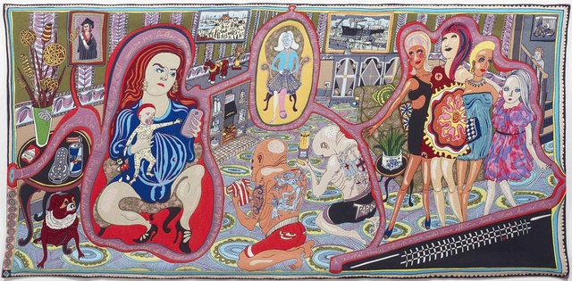 Grayson Perry; The Adoration of the Cage Fighters; Bilderteppich; 2012
