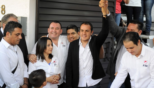 Cuauhtémoc Blanco presentó su candidatura de presidente municipal de Cuernavaca